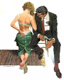 Robert McGinnis_Green dress